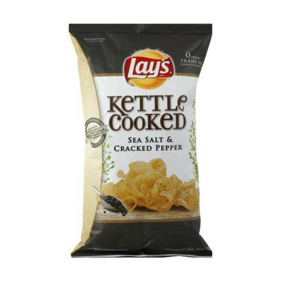 Lay's Kettle Cooked Sea Salt & Cracked Pepper Potato Chips 8.5 oz