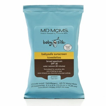 MD MOMS Baby Silk Babysafe Sunscreen Towelettes