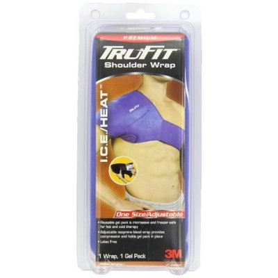Trufit Tru-Fit Ice/heat Shoulder Wrap With Gel Pack, Blue, One Size Fits All