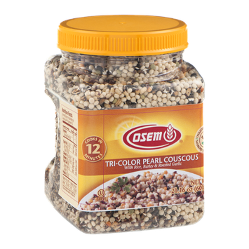 Osem Tri-Color Pearl Couscous with Rice, Barley & Roasted Garlic