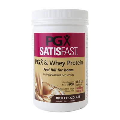 PGX SATISFAST & Whey Protein, Rich Chocolate, 8.9 oz