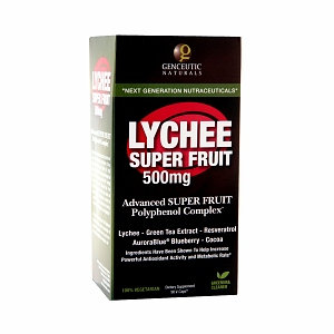 Genceutic Naturals Lychee Super Fruit 500 mg