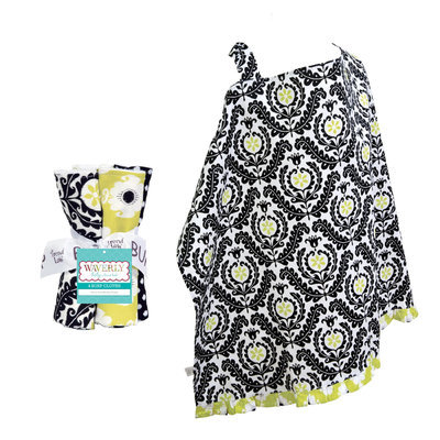 Test NURSING COVER AND BURP CLOTH SET WAVERLY RISE AND SHINE