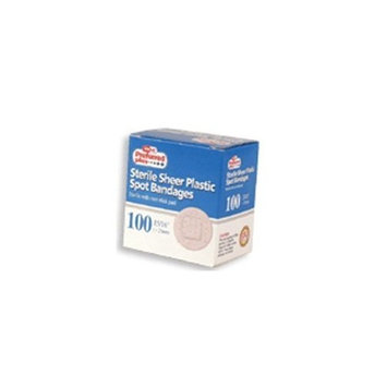 Preffered Plus Products Sterile Sheer Plastic Spot Bandages- 100 ea