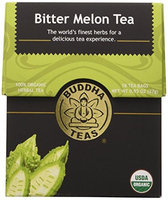 Buddha Teas Bitter Melon 100 Percent Organic Herbal Tea 18 Bags Per Packet