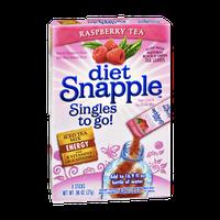 Snapple Singles To Go Diet Raspberry Tea  Energy Iced Tea Mix- 8 CT