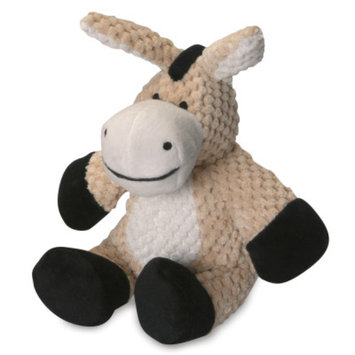 goDog Checkers Donkey Squeaker Dog Toy