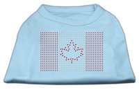 Mirage Pet Products 5217 XSBBL Canadian Flag Rhinestone Shirts Baby Blue XS 8