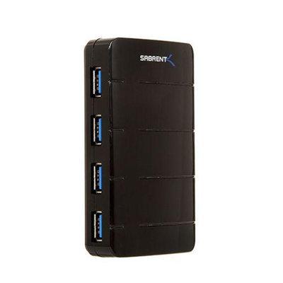 Sabrent USB Hub - 4x USB 3.0 Ports, 5Gbps, Support Hot Swapping, Plug & Play - HB-J3U4