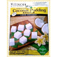 NOH Foods of Hawaii coconut pudding Haupia, 2 Ounce Packages (Pack of 12)