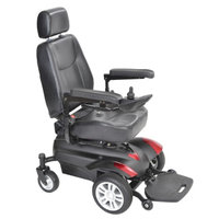 Drive Medical Titan Front Wheel Power Wheelchair with Vented Captain Seat 18 Inch Seat