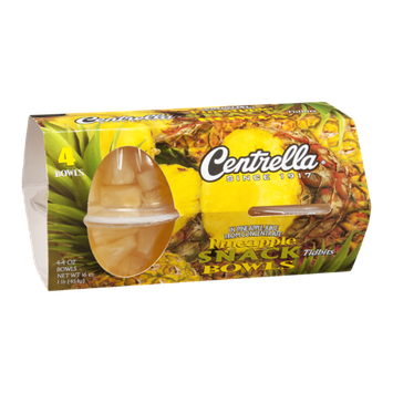 Centrella Snack Bowls Pineapple Tidbits - 4 CT