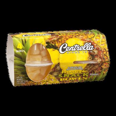Centrella Snack Bowls Pineapple Tidbits - 4 CT