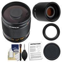 Rokinon 500mm f/8 Telephoto Mirror Lens with 2x Teleconverter (=1000mm) for Nikon D3100, D3200, D5100, D7000, D700, D800, D4 Digital SLR Cameras