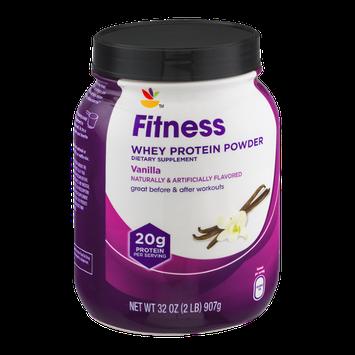 Ahold Fitness Whey Protein Powder Dietary Supplement Vanilla