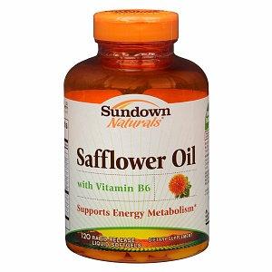 Sundown Naturals Safflower Oil with Vitamin B6