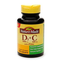 Nature Made Vitamin D3 + C with Zinc