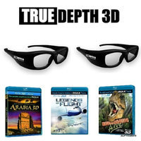True Depth 3D® IMAX bundle for Toshiba 3D TVs! (2 glasses and 3 IMAX blu rays!)