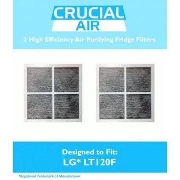 Crucial Air 2 LG LT120F Air Purifying Fridge Filters, Part # ADQ73334008 & ADQ73214404