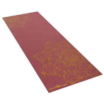Natural Fitness Eco-Smart Yoga Mat - 24 in x 69 in x 6mm, Burgundy/Mustard, 1 ea