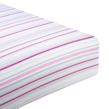 SwaddleDesigns Swaddle Designs Fitted Crib Sheet - Pink & Sterling Stripes