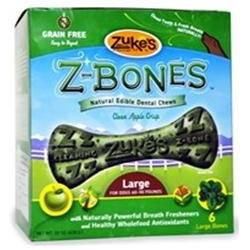 Zukes Performance Pet Zukes Z-Bones Apple Large - 6 pack