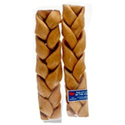 Castor & Pollux Pet Works Rawhide Braided Stick 2 Pack
