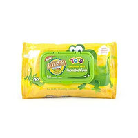 Earth's Best Tots Chlorine Free Flushable Wipes, 50 Wipes (Pack of 12)
