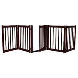 Dynamic Accents 5 Panel Freestanding Walk Through Gate BLACK