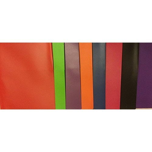 Generic 3 Poly Double Pocket Folder with Prongs - 8 Pack Folders