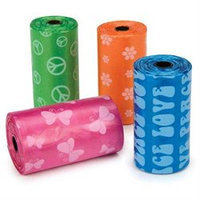 Petedge US035 14 ClearQuest Waste Bag Display Brights Graffiti