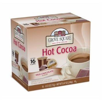 Grove Square Hot Cocoa, Milk Chocolate, 16 Single Serve Cups (Pack of 3)