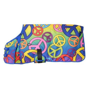 Tough-1 600D Peace Signs Print Dog Blanket