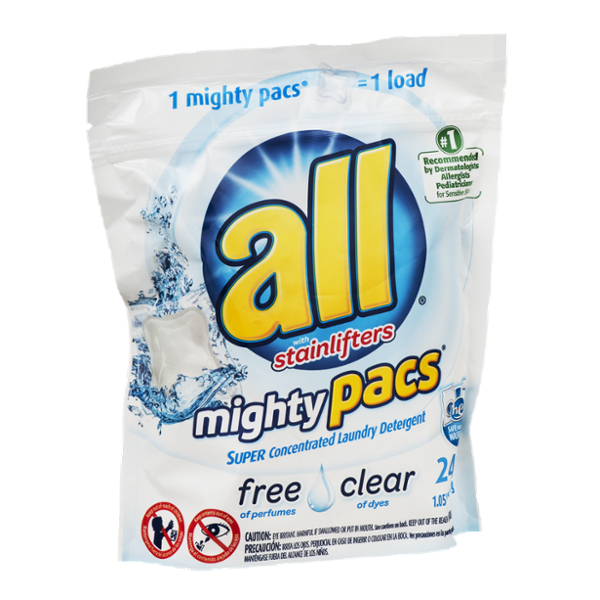 All Mighty Pacs Laundry Detergent Pacs - 24 CT