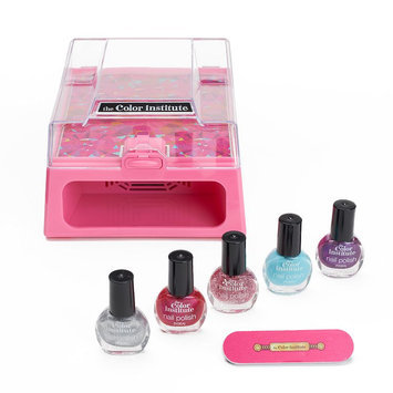 The Color Institute Professional Nail Dryer, Buffer and 5-pc. Nail Polish Set, Pink