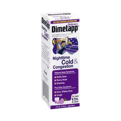 Dimetapp Children's Nighttime Cold & Congestion Liquid Grape