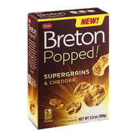 Breton Popped Air Popped Crackers Supergrains & Cheddar