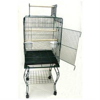 YML Open Top Parrot Cage with Stand in Black