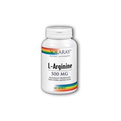 Solaray Free-Form L-Arginine - 100 Capsules - Arginine