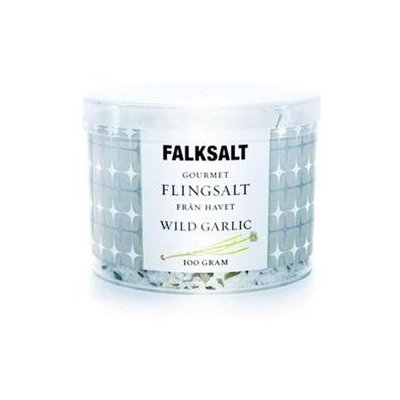 Falksalt 4.4-oz. Sea Salt Flakes, Wild Garlic