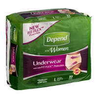 Depend For Women Fit-Flex Underwear Large - 19 CT