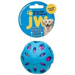 Jw Pet Medium Crackle Heads Ball Dog Toy