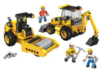 Mega Brands Mega Bloks Hometown CAT Roadbuilding Unit Play Set (#97805)