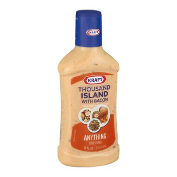 Kraft Salad Dressing 1000 Island Bacon Dressing, 16 FL OZ (Pack of 6)
