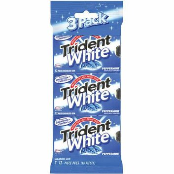 Trident White Peppermint Sugarless Gum
