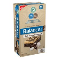 Balance Bar Dark Chocolate Coconut Nutrition Energy Bars - 15 Count