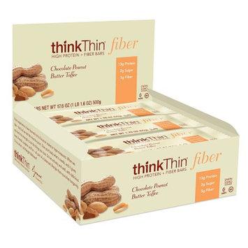 thinkThin Chocolate Peanut Butter Toffee High Protein & Fiber Bars