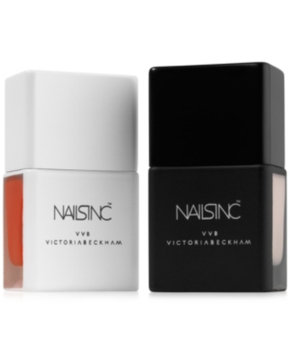 NAILS INC. Victoria, Victoria Beckham for Nails Inc. Duo Collection Jude Red/Bamboo White 2 x 0.47 oz