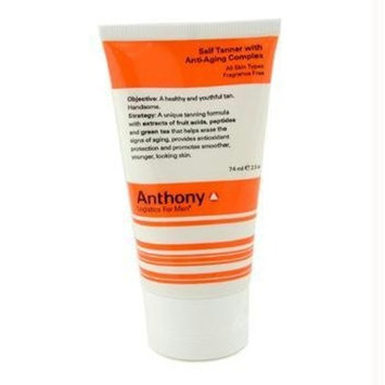 Anthony Logistics for Men Self Tanner with Anti-Aging, 2.5 Ounce