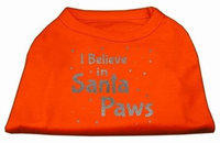 Ahi Screenprint Santa Paws Pet Shirt Orange XXL (18)